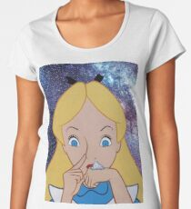 Alice in Wonderland doing a Bump Women's Premium T-Shirt