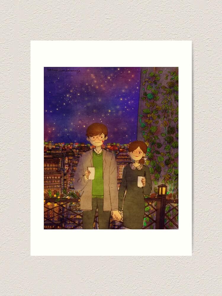 Alternate view of Date night Art Print