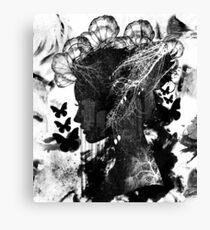 Monochromatic Nature Woman  Canvas Print