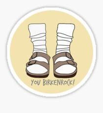 du birkenrock gelb Glänzender Sticker