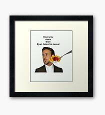 Ryan Gosling Framed Print