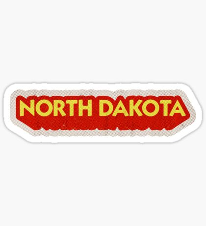 North Dakota State Sticker | Retro Pop Sticker