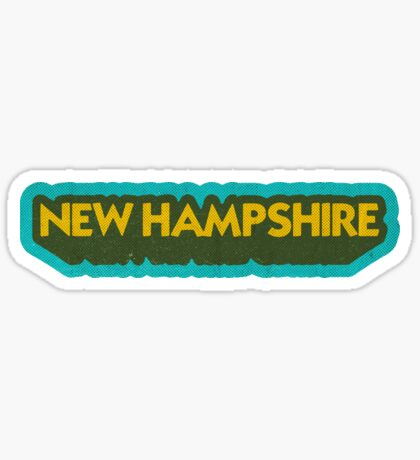 New Hampshire State Sticker | Retro Pop Sticker
