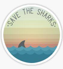 Pegatina Salva a los tiburones
