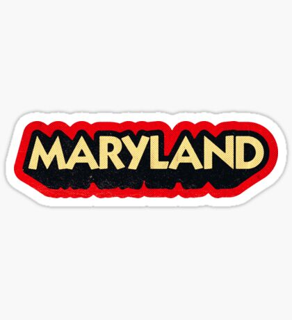Maryland State Sticker | Retro Pop Sticker