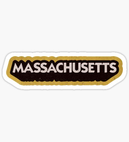 Massachusetts State Sticker | Retro Pop Sticker