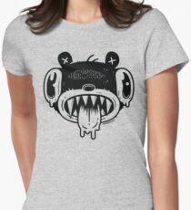 Noodle Bear Face Women's Fitted T-Shirt