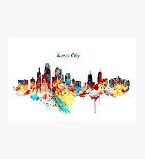 Kansas City Skyline Silhouette Photographic Print