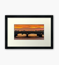 Blackfiars Bathed in the Aftersun Glow Framed Print