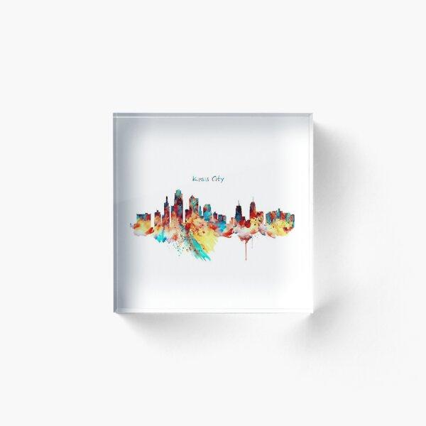 Kansas City Skyline Silhouette Acrylic Block