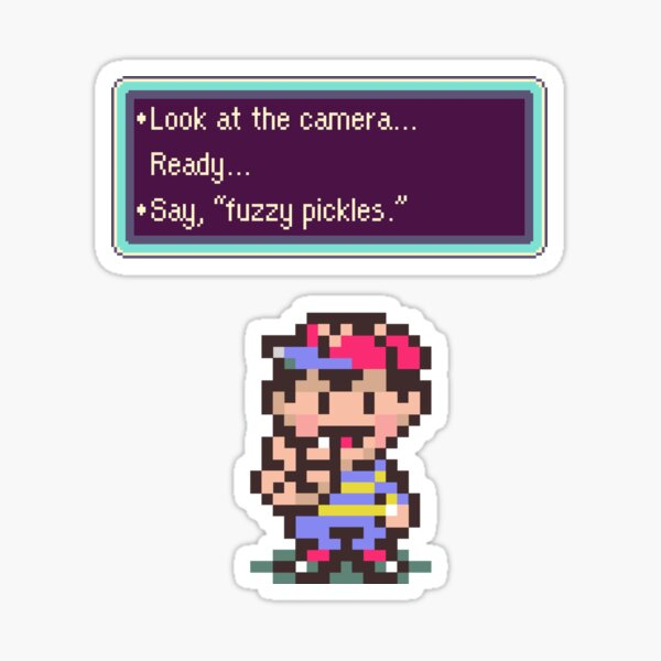 Earthbound Fuzzy Pickles Sticker