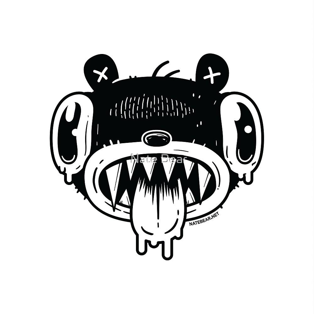 Noodle Bear Face by Nate Bear