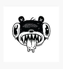Noodle Bear Face Photographic Print
