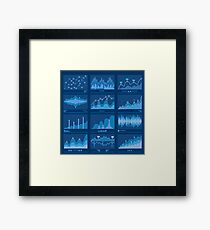 Big Data Blueprint Data Analytics Vector Framed Print