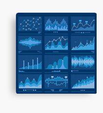 Big Data Blueprint Data Analytics Vector Canvas Print