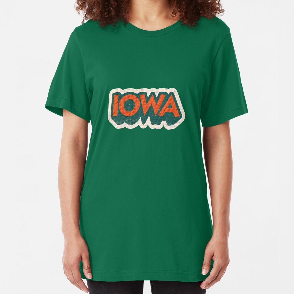 Iowa State Sticker | Retro Pop Slim Fit T-Shirt