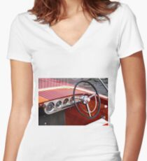 Antique Boat Show 10 Women's Fitted V-Neck T-Shirt