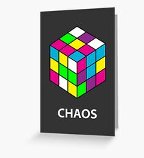 Rubik's Cube Chaos Greeting Card