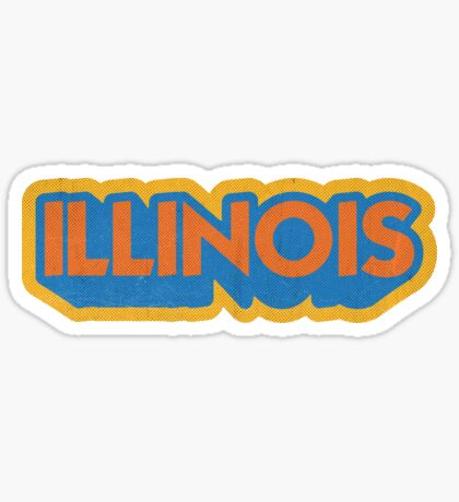Illinois State Sticker | Retro Pop Sticker