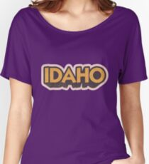 Idaho State Sticker | Retro Pop Women's Relaxed Fit T-Shirt