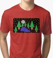 Forest At Night With A Lake Edition 2 Tri-blend T-Shirt