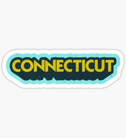 Connecticut State Sticker | Retro Pop Sticker