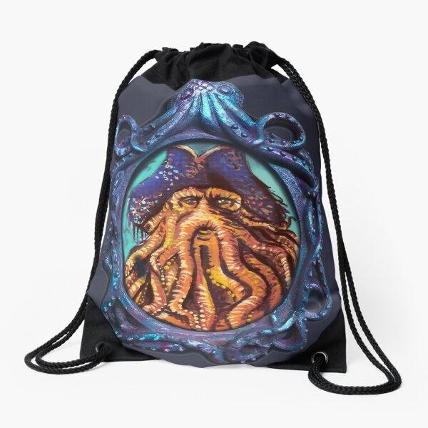 Pirate Octopus Drawstring Bag