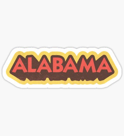 Alabama State Sticker | Retro Pop Sticker