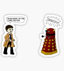 Castiel meets a Dalek Sticker