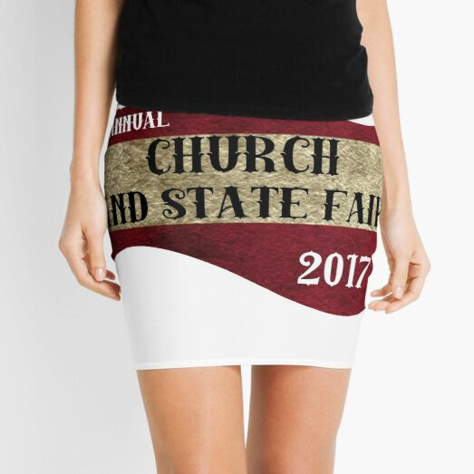 Church and State Fair| classic quotes  Mini Skirt