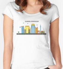 Alabama - Birmingham. Silhouette Skyline Women's Fitted Scoop T-Shirt