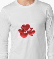 Hearts Long Sleeve T-Shirt