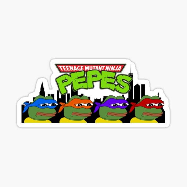 Teenage Mutant Ninja Pepes Sticker