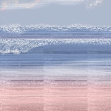Serenity Beach at Rose Quartz Cove/Pantone Colour of the year 2016 by cradox