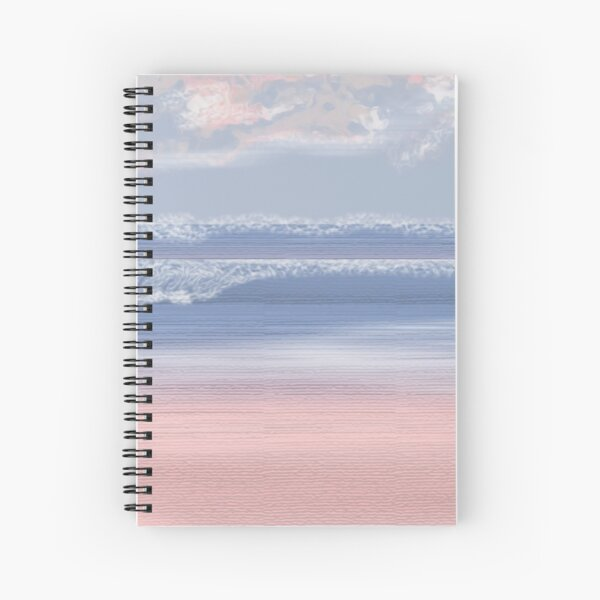 Serenity Beach at Rose Quartz Cove/Pantone Colour of the year 2016 Spiral Notebook