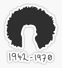 Jimi Hendrix Tribute: 1942 - 1970 Sticker