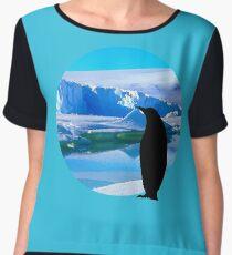 Lonely penguin Women's Chiffon Top