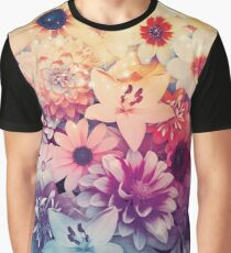 Hipster Flowers Graphic T-Shirt