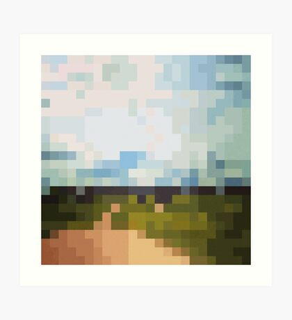 Digital Landscape #6 Art Print