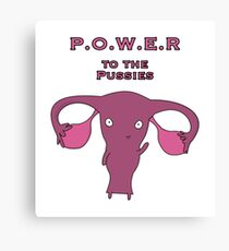 Power to the Pussies 04 Canvas Print