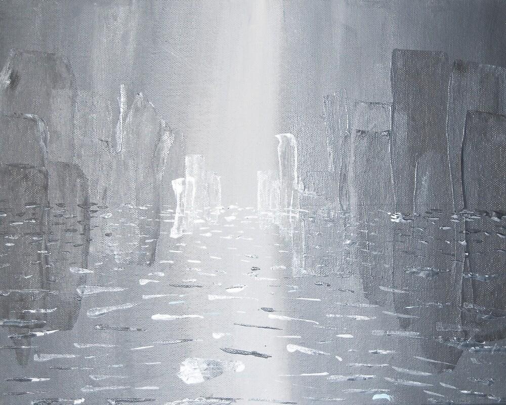 City Melting in the Rain by VikingHorde