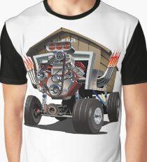Vector Cartoon Garage Hot Rod. Graphic T-Shirt