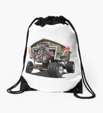 Vector Cartoon Garage Hot Rod. Drawstring Bag