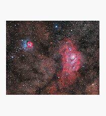 Lagoon and Trifid Nebula Photographic Print