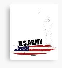 Army Girlfriend - Army Us Funny  Canvas Print