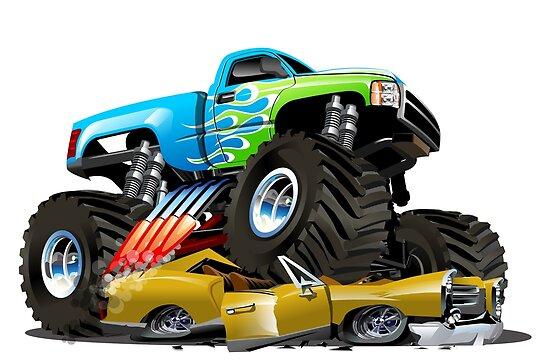 Monster Truck De Dessin Animé Posters By Mechanick Redbubble