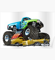 Cartoon Monster Truck Poster