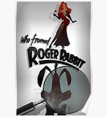 Who Framed Roger Rabbit Noir Poster Poster