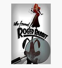 Who Framed Roger Rabbit Noir Poster Photographic Print