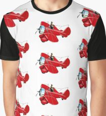 Cartoon retro airplane Graphic T-Shirt